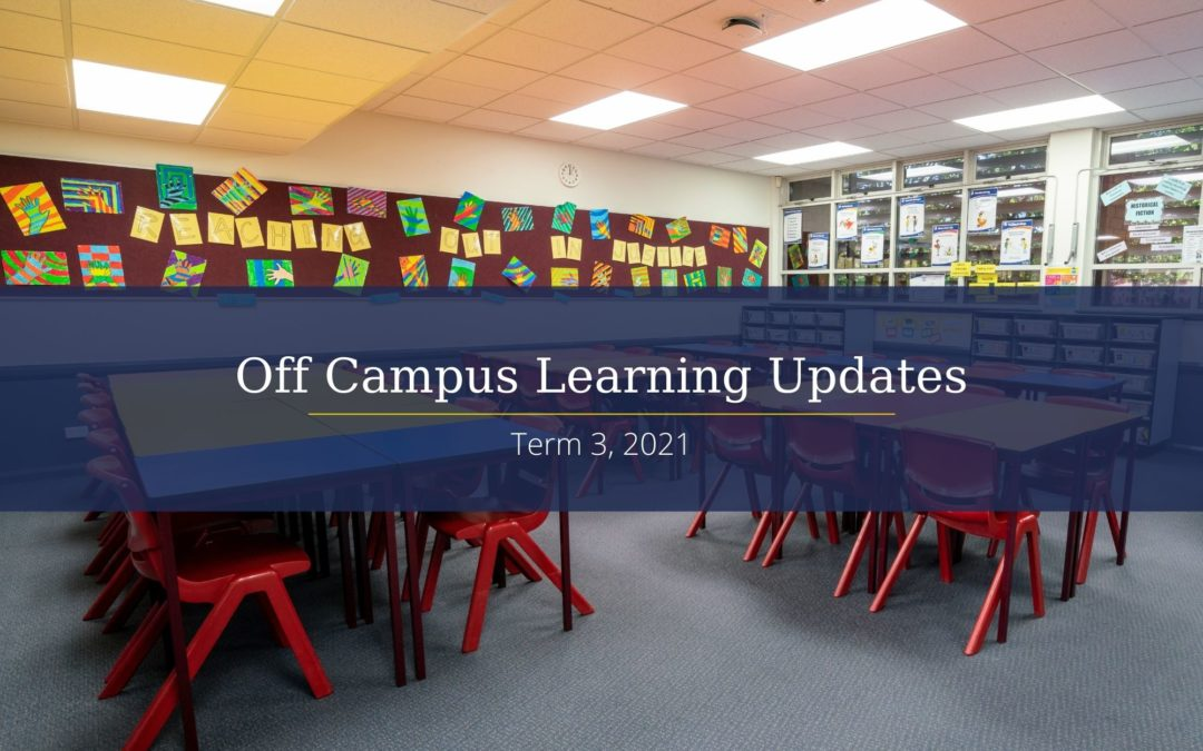 Term 3 Off Campus Learning